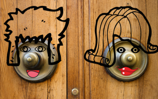 Doorknob friends